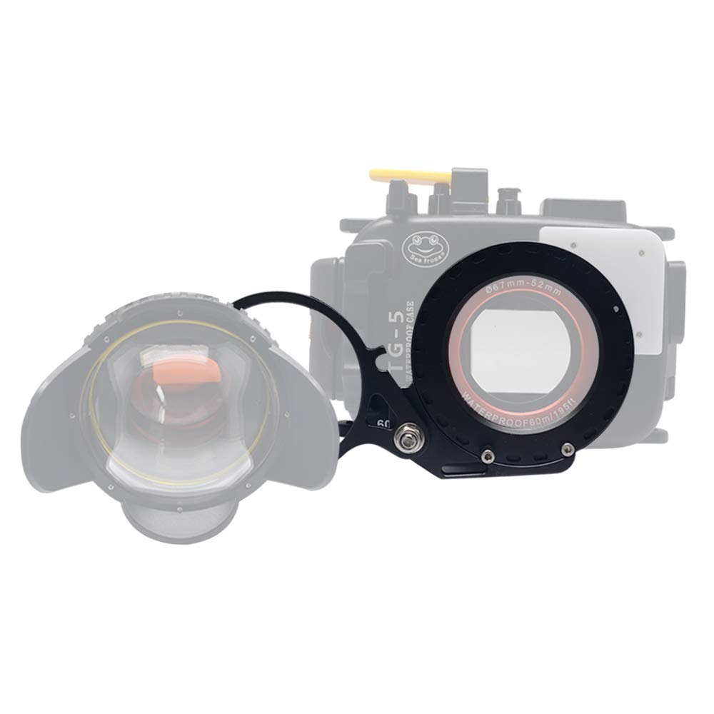 Venidice 67mm Flip adapter Underwater housings Filter Ring Mount Adapter Clamp for RX100 A6000 S110 G15 G16 TG5 TG4 TG-5 TG-4