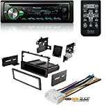 Pioneer CD Receiver with MIXTRAX, Built-in Bluetooth, and Color Customization W/ Car Radio Stereo Dash Install Mounting Trim Bezel Panel Kit Mount