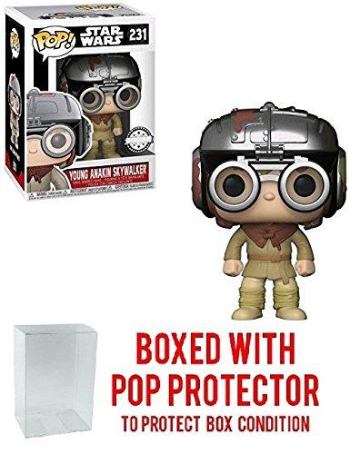 Pop Protector Funko Pop! Star Wars: Young Anakin Skywalker Walgreens Exclusive Collectible Vinyl Figure (Bundled