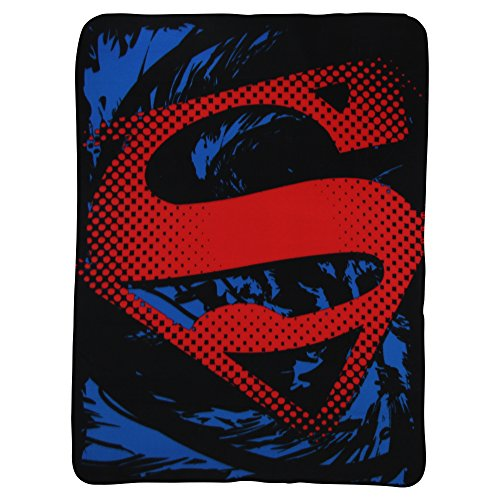 Superman Fleece - The Northwest Company Superman Super Rip Shield Character Fleece Blanket, 45 x 60-inches