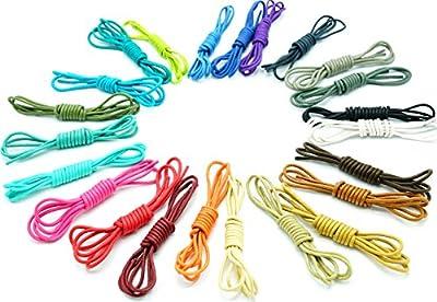 """Shoeslulu 20-59"""" Premium Round Waxed Canvas Shoelaces Bootlaces"""