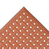 NoTrax Red 3' x 5' Superflow Floor Mat