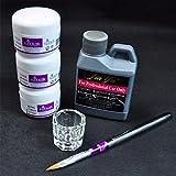 Sandistore Pro Simply Nail Art Kits Acrylic Liquid Powder Pen Dappen dish Tools Set (A)
