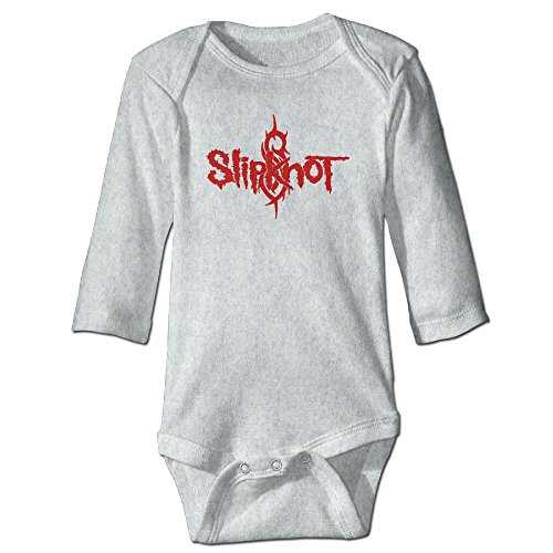 DW Baby Slipknot Logo Long Sleeve Climb Clothes Romper Ash 12 Months
