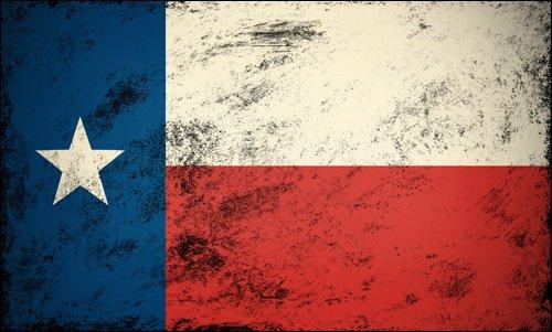 American Vinyl Vintage Texas Flag Sticker (Old Look Star Distressed tx ()