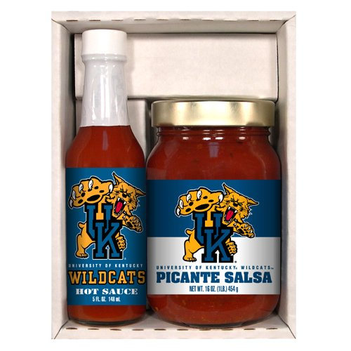 Wildcats Picante Salsa (Kentucky Wildcats NCAA Snack Pack (5oz Hot Sauce, 16oz Picante)