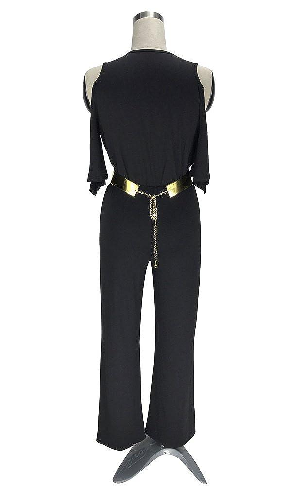 Dooxi Womens Solid Color High Waist Wide Leg Long Pants Jumpsuits V Neck Evening Party Romper Jumpsuit