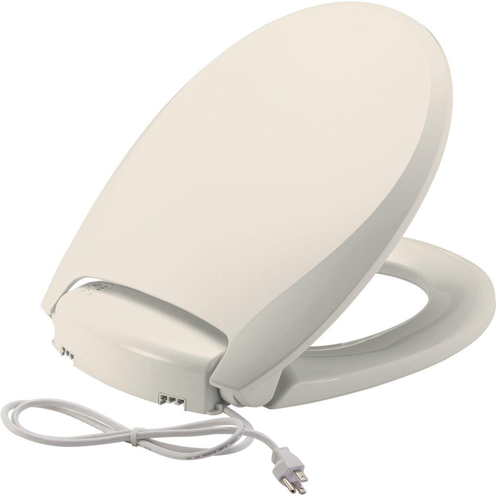 Bemis H900NL 346 Radiance Heated Night Light Toilet Seat, Round, Biscuit