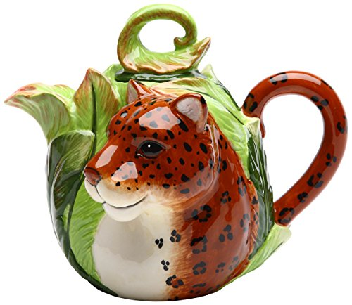 Cosmos 20832 Gifts Ceramic Leopard Teapot, 5-7/8-Inch