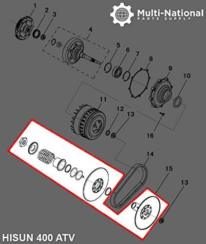400cc Driver (Clutch CVT Driver Pulley Hisun 400cc ATVUTV)