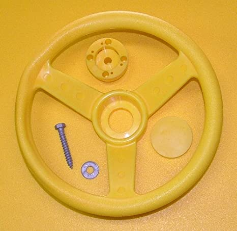 Steering Wheel with Caps /& Hardware for Swing Set Backyard 11.5 for Your Jungle Gym or Play Set