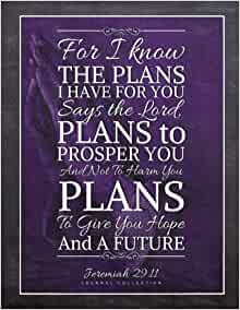 Jeremiah 29 11 Journal Purple Praying Hands For I Know