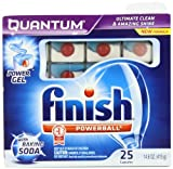 Finish Quantum Dishwasher Detergent with Baking Soda, 25 Count, Health Care Stuffs