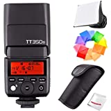 Godox TT350S 2.4G TTL Speedlite Flash Sony Mirrorless Cameras - GN36 HSS(Max.1/8000s) 0.1-2.2s Recycle Time 210 Full Power Flashes 22 Steps Power Output(1/1-1/128) 24-105mm Auto/Manual Zooming …
