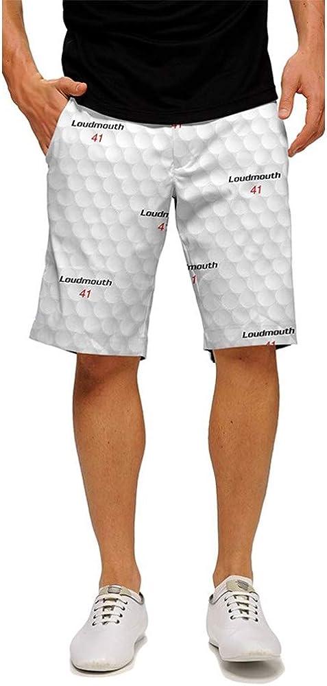 "Loudmouth Golf - 100% StretchTech Poly - John Daly Fun Big Golf Ball Men's Short - Knee Length, 11"" Inseam"