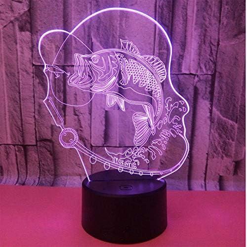Luz de la noche de wangZJ 3d / lámpara de la ilusión óptica del ...