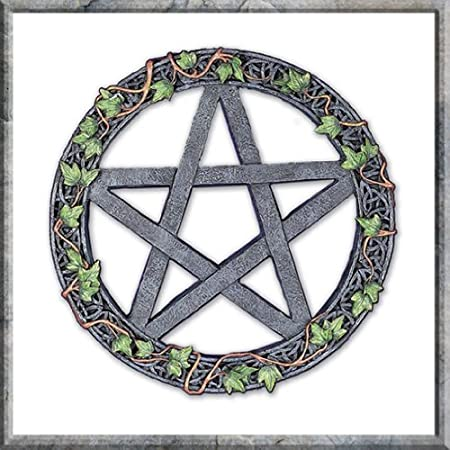Ivy Pentagram Pagan Wall Art Plaque 20 cm: Amazon.co.uk: Kitchen & Home