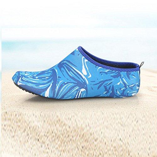 Inkach Water Sportschoenen - Unisex Sneldrogend Op Blote Voeten Huid Aqua Sokken Surf Duikschoenen Blauw