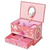 kidsroom design ideas SONGMICS Musical Jewelry Box Ballerina Jewel Storage Case for Girls, Ball Princess Pink UJMC006