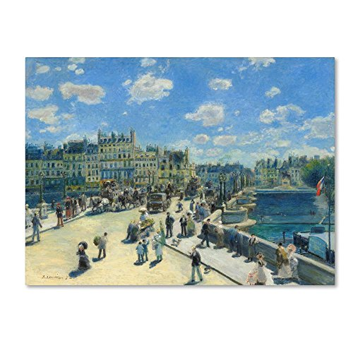 Pont Neuf Paris 1872 by Pierre Renoir, 14x19-Inch Canvas Wall Art