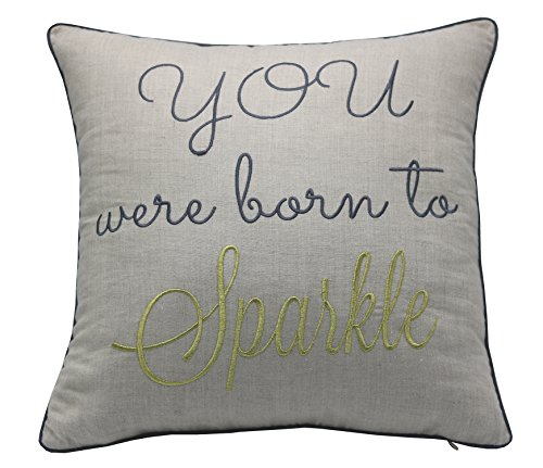YugTex Pillow cover Embroidered Inspirational quote Pillow, Rise and Shine,Be Brave, Be Bold, Gift for Girls, Student, Boys, Graduation Gift, Throw Pillow case (18