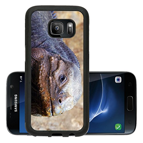 Liili Premium Samsung Galaxy S7 Aluminum Backplate Bumper Snap Case Closeup Of A Lizard Photo 511809