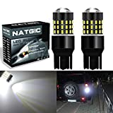 NGCAT Extremely Bright 2PCS 3014SMD 54-EX Chipsets 7443 7444NA 7440 7440NA LED Bulbs with Lens Projector Brake Turn Signal Tail Backup Reverse Lights,Xenon White 12-24V