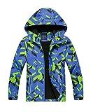 M2C Boys Outdoor Color Block Fleece Lining Windproof Jackets with Hood 6/7 Green