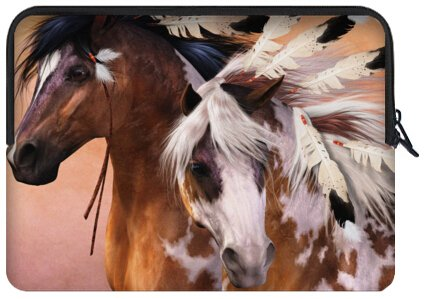 Mejor elegante caballo de Guerra de la India 17 pulgadas portátil/ordenador portátil manga bolsa