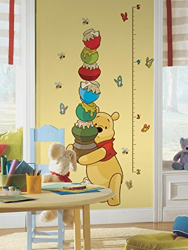 (Winnie the Pooh - Pooh Peel & Stick Growth Chart Wall Decal 18 x 40in)
