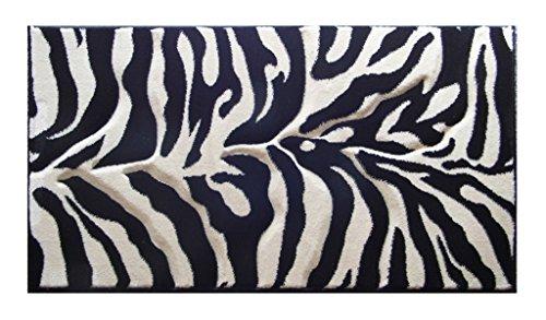Zebra Carved Rug - 1