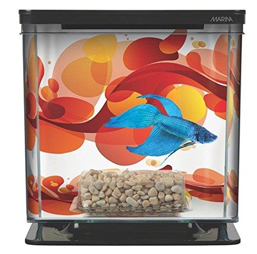 Marina Betta Aquarium Starter Kit, Sun Swirl