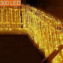 MOVEONSTEP Guirnaldas de Luces Guirnalda Luminosa Blanco Cálido 8 Modos Luces de Cadena para Fiestas Jardín Navidad