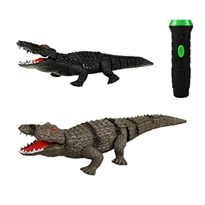 nobrand Chenzinan Tricky Toy High Frequency Infrared Remote Control Crocodile with Light Rechargeable Adult Gift for Children Over 8 Years Old (Color : Black): Home & Kitchen