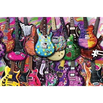TDC Games Worlds Smallest Jigsaw Puzzle - Six String Fling: Toys & Games [5Bkhe1402412]