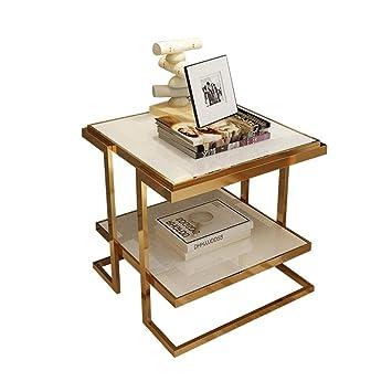 magasin en ligne e98b1 21f39 YNN Moderne Coin Salon Côté Canapé Table D'appoint en Verre ...