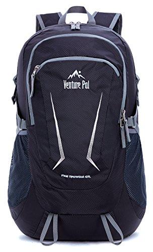 Venture Pal Large 45L Hiking Backpack – Packable Lightweight Travel Backpack Daypack for Women Men (Black)