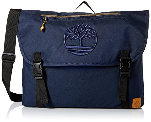 Timberland Men's Mendum Pond Nylon Messenger Bag, Black Iris