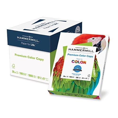 Paper Premium White Bright - Hammermill Paper, Premium Color Copy Paper 8.5 x 11 Paper, Letter Size, 28lb Paper, 100 Bright, 6 Packs / 1,800 Sheets (102700C) Acid Free Paper, White