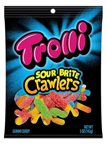 Trolli Sour Brite Crawlers Gummy Candy, 5 Ounce Bag, Pack...