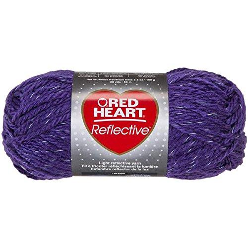 RED HEART Reflective Yarn, Purple