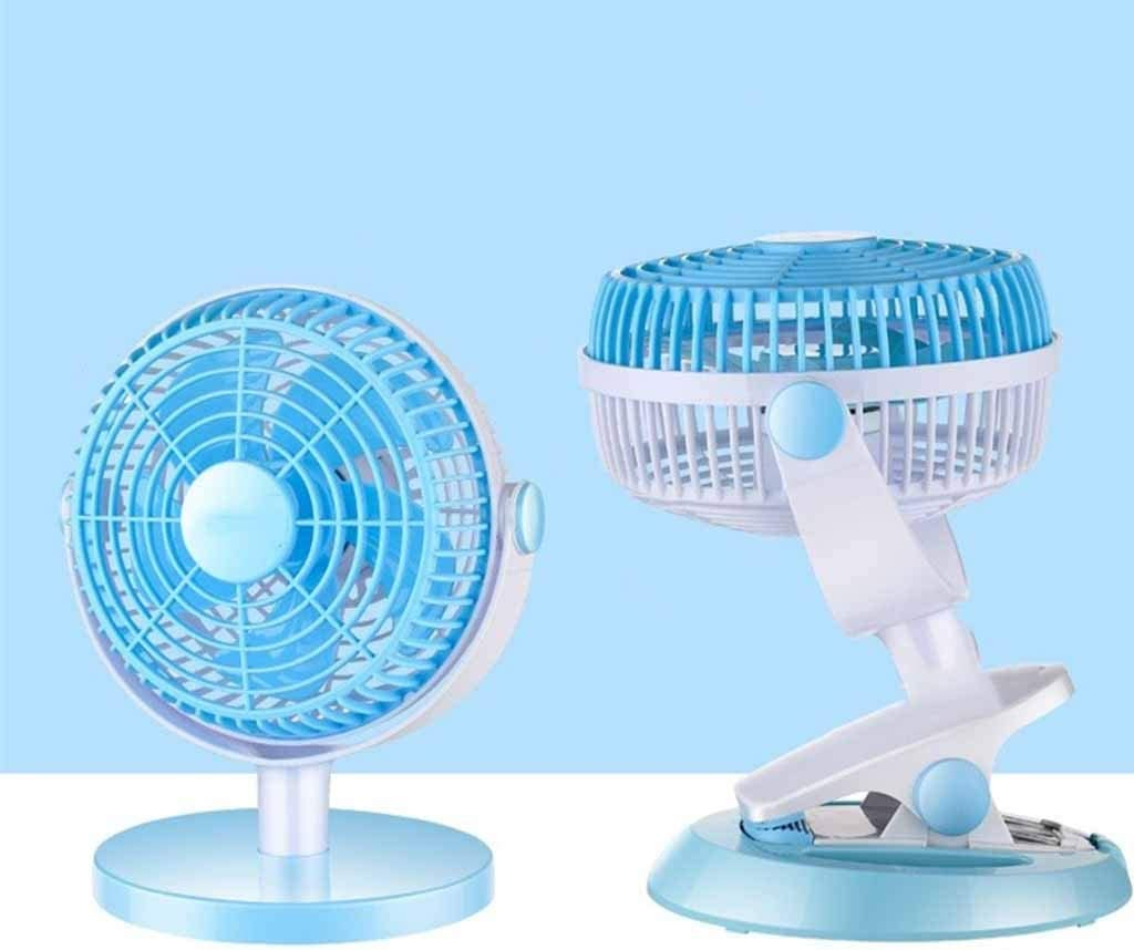 QIAOXINGXING Clip Fan Portable Rechargeable Mini USB Electric Fan Rechargeable Portable Student Dormitory Small Fan Wholesale Color : B
