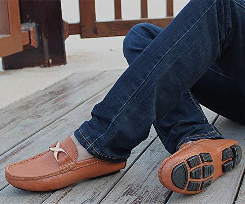 Gents Nero pi YAN Shoes Mens New Leather Misura Slip su wnIRvqIY