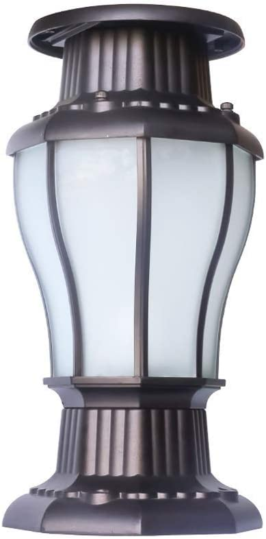 Xungzl European Retro LED Solar Post Cap Lights Glass Aluminum Metal Column Lamps Fence Pillar Lantern Outdoor IP54 Waterproof Garden Lighting Fixture Yard Deck Street Top Wall Porch Lamp 51F-uymzqGLSL1000_