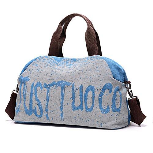 Hobo Tote Shopper Women's Handbag Ladies Shoulder Top Handle Western Daily Blue Casual Purse style Canvas Vintage vP4qE