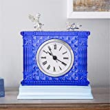 Creative Fashion Clocks Clocks American Style Retro Clocks Clock Crystal Crystal Bedroom Decoration, Blue