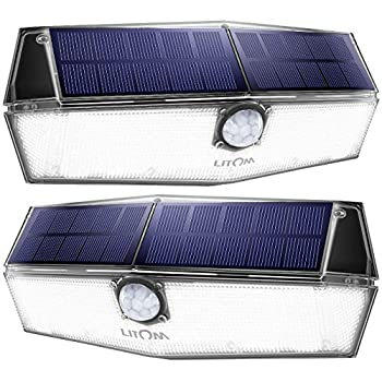 Litom 200 Led Solar Lights Outdoor 3 Optional Modes