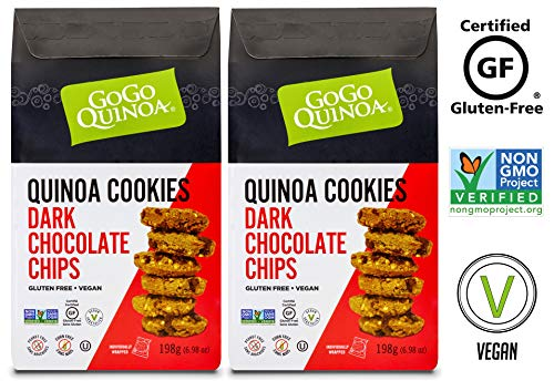 GoGo Quinoa Organic Rich & Dark, Peanut Free Vegan Chocolate Chips Cookies With Certified Gluten Free 27.92 oz