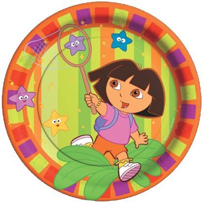 Dora the Explorer Lunch Plates, 8ct