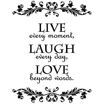 Amazon.com : Epic Designs #2 Live Every Moment, Laugh ...